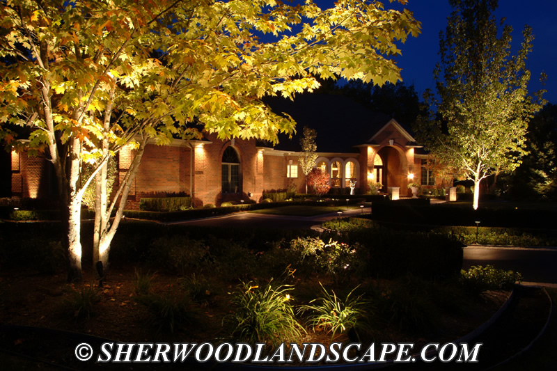 outdoor landscape lighting gallery michigan outdoor lighting