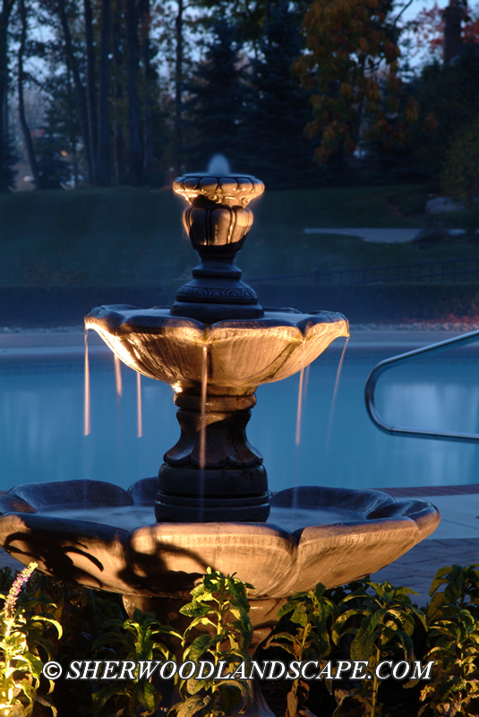 Outdoor Lighting for Water Feature