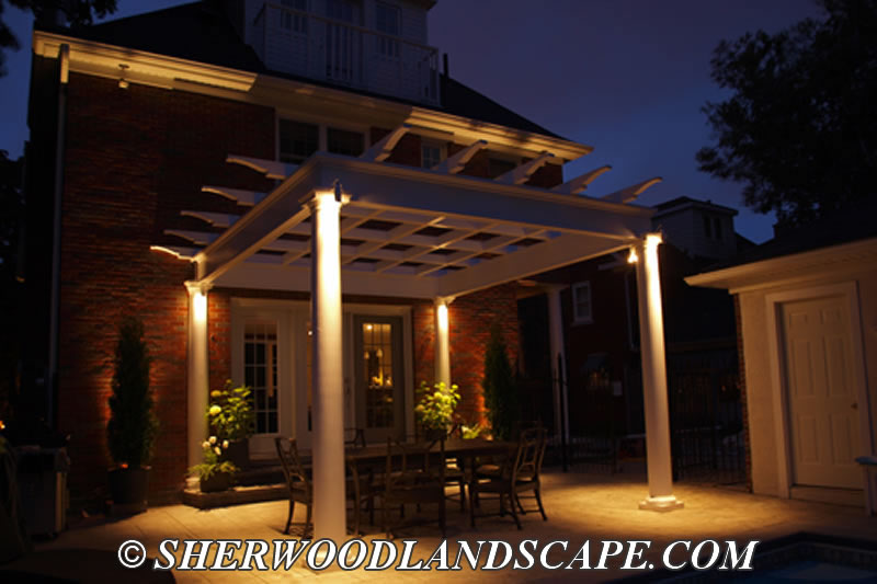 Elegant Outdoor Landscape Patio Lighting